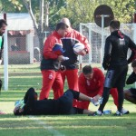 """Marcos Díaz: """"Me torcí un poquito el tobillo, pero no es nada grave"""""""