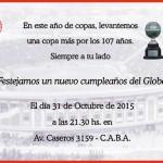 A festejar los 107 del Globo
