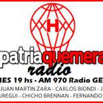 PatriaQuemera Radio del lunes 8 de agosto. Con Nicolás Romat y Ezequiel Garré