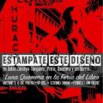 Luna Quemera estampará remeras en la Feria del Libro.