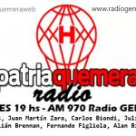 PatriaQuemera Radio del lunes 29 de agosto. Con Patricio Toranzo y Alejandro Gorenstein.