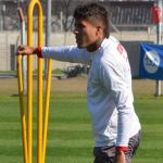 Triangular de fútbol en la jornada de entrenamiento