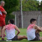 Fútbol formal en la jornada de entrenamiento