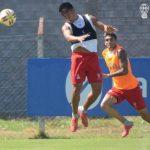 Trabajos de pelota previo a Cruzeiro